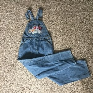 Vintage 90s Rare Guess Patched Raw Denim Overalls
